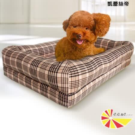 【凱蕾絲帝】太空記憶寵物時尚床墊-中小型犬專用 60*40*5CM-英倫粉格