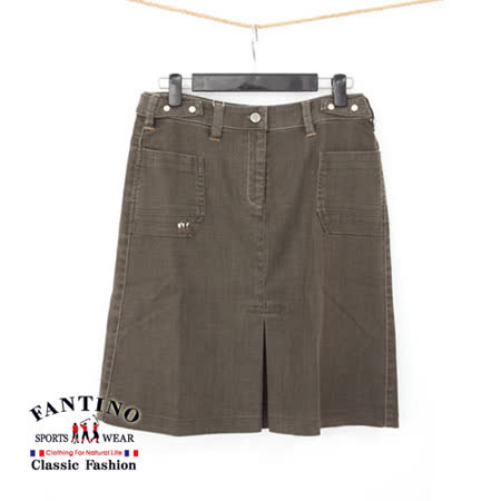 【FANTINO】百搭經典設計款.及膝牛仔裙(咖啡) 963302