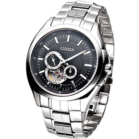 CITIZEN 現代爵士鏤空鋼帶自動機械腕錶
