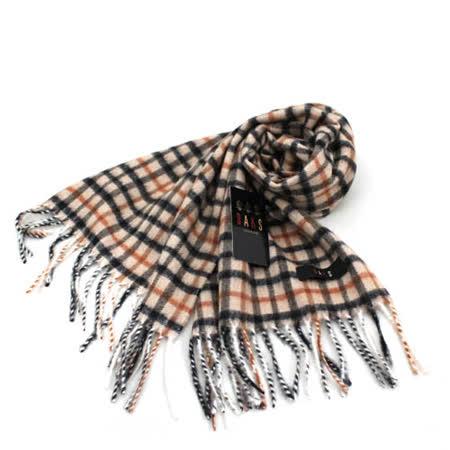DAKS經典格紋羊毛圍巾