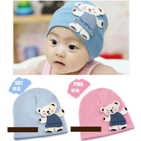 購物車:熊熊貼布款~可愛保暖帽