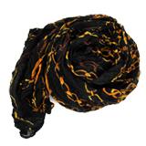 【Lus.G】輕時尚復古韓系鎖鏈圖案圍巾-黑色