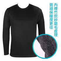 LACOYA 男圓領長袖保暖衣(AP019-2 黑)