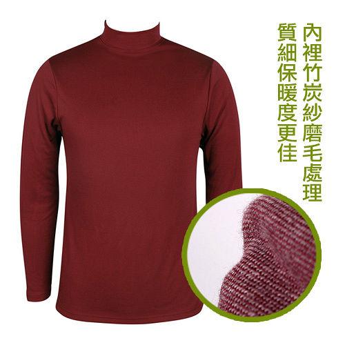 LACOYA 男立領長袖保暖衣^(AP020~3紅^)