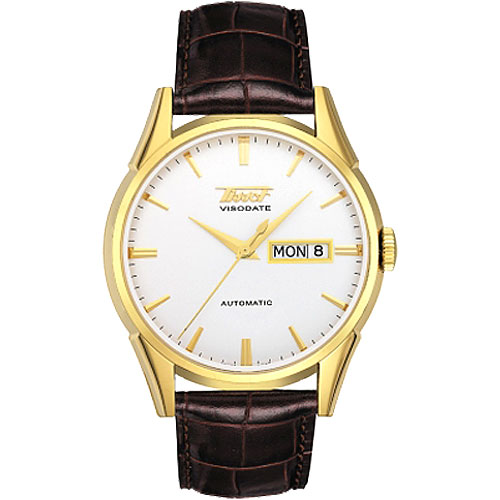 TISSOT VISODATE 1957 經典自動腕錶(T0194303603101)-金/銀