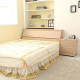 《Loha》樂生活3件日式雙人床櫃組-不含床墊(胡桃/白橡)