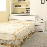 《Loha》樂生活3件日式雙人床櫃組-不含床墊(白色)