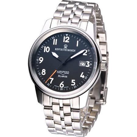 Revue Thommen AIRSPEED X-Large 機械腕錶-黑/40mm16052.2137
