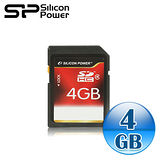 廣穎電通 silicon-power 4G SDHC(CL4) 記憶卡