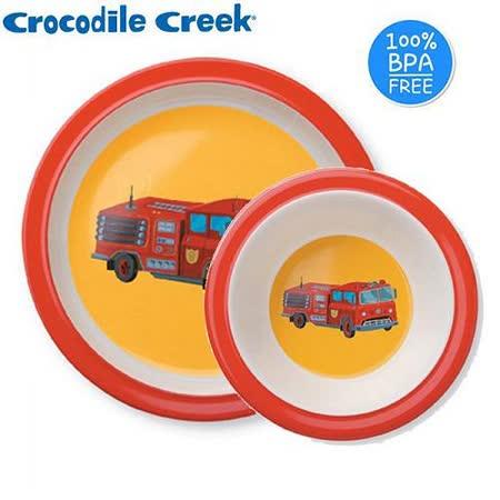 【Crocodile Creek】兒童餐碗盤(消防車)