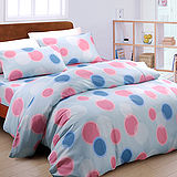 【普普-藍】台灣精製加大四件式被套床包組