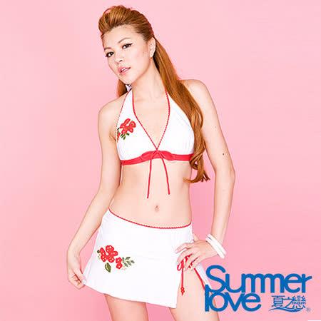 【SUMMERLOVE 夏之戀】東方風情比基尼三件式泳衣B7791