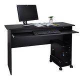 《BuyJM》台灣製造,主機架+附鍵盤架電腦桌(122公分)