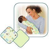 美國 Summer Infant SwaddleMe【刷毛絨布厚款 - 綠色 2入裝】, 小號 - 可調式懶人包巾