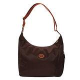 Longchamp 豔彩繽紛斜背包-巧克力色