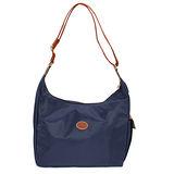 Longchamp 豔彩繽紛斜背包-深藍色