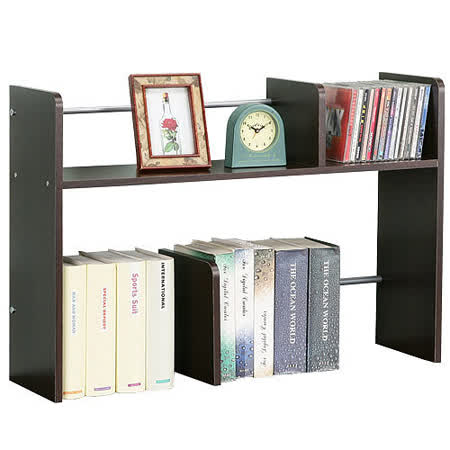 《Homelike》安格斯桌上型置物書架(二色可選)