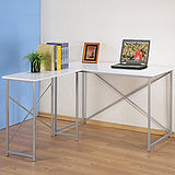 《Homelike》時尚L型工作桌(二色可選)