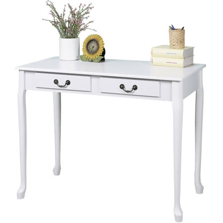 《Homelike》典雅歐風二抽書桌(二色可選)