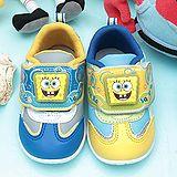 【童鞋城堡】海綿寶寶LED電燈學步鞋{台灣製造}SG8097