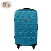 MON BAGAGE 金磚滿滿 ABS輕硬殼收納家24吋行李箱(土耳其藍/葡萄紫)