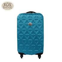 MON BAGAGE 金磚滿滿 ABS輕硬殼20吋登機箱(土耳其藍/葡萄紫)