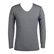 LACOYA  EKS瞬間發熱男V領衫(AP047-4 藍白條紋)