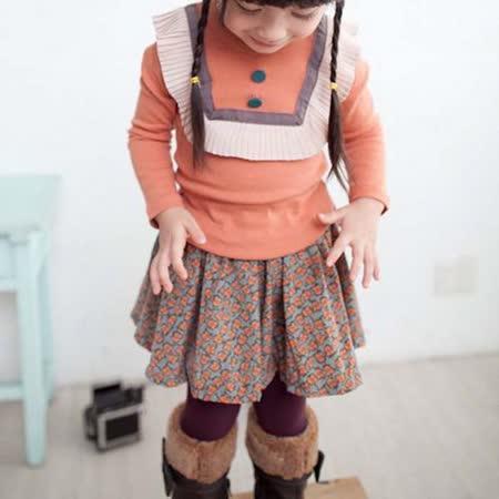 韓國設計製造~復古典雅束口印花裙~k17618