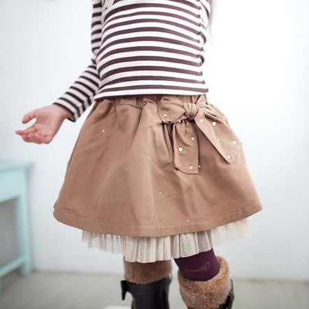 韓國設計製造~可愛蕾絲鑲邊蝴蝶蓬蓬裙~k17533