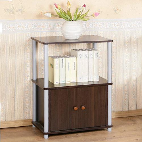 ~Homelike~雅緻胡桃三層雙門系統置物櫃