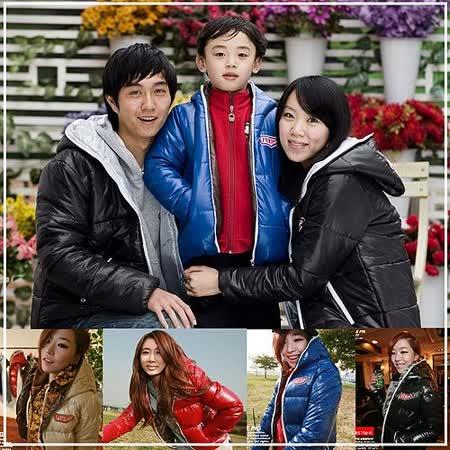 韓國時尚《天使翼連帽外套》長袖親子裝@四件組【預購款】