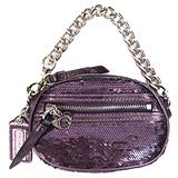 COACH POPPY 亮片零錢包(紫)