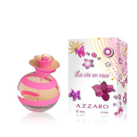 AZZARO Jolie Rose茱麗粉紅淡香水50ml(加贈聖活泉身體保養兩件組)