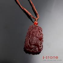 【石頭記】護身佛系列-關公紅玉髓項鍊