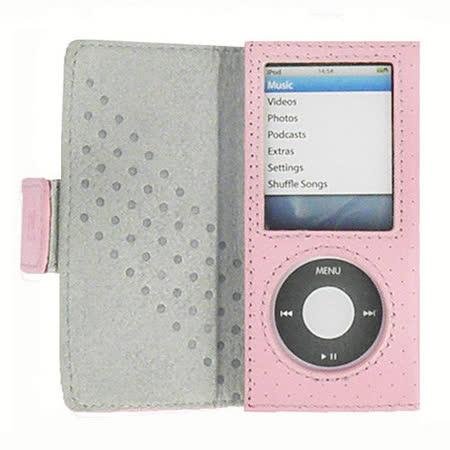 Digifocus iPod nano 4 時尚真皮皮套左掀式-蜜戀粉