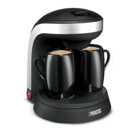 【福利品】《PRINCESS》荷蘭公主雙人迷你咖啡機(黑色/粉色)