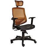 賽德克挺背調結護枕工學電腦椅/辦公椅(橘色)