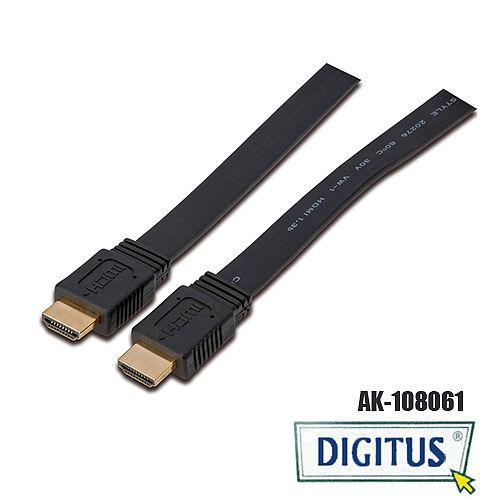 曜兆DIGITUS HDMI~AK-108061扁平線 平板線0.5m
