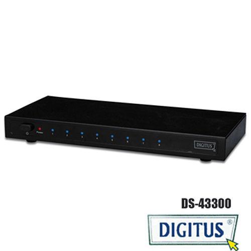 曜兆DIGITUS HDMI ~DS-43300一入八出分配器