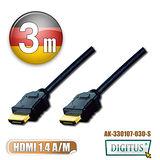 曜兆DIGITUS HDMI 1.4 鍍金線 3M