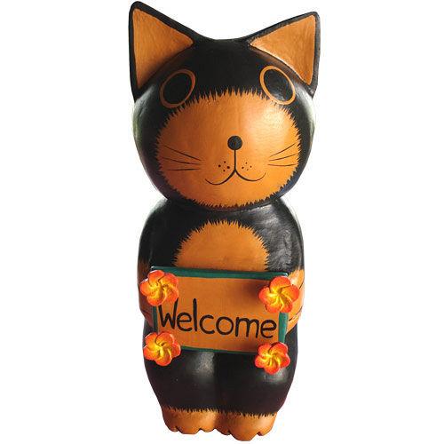~Homelike~南洋風貓咪welcome擺飾藝術品