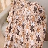 大尺寸【格韻】超柔細多用途珊瑚絨毯(140x240cm)