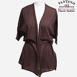 【FANTINO】台灣製*輕薄羊毛,長版多變化披肩外套(咖啡)187201