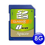 Apacer宇瞻 8GB SDHC 記憶卡(Class 4)