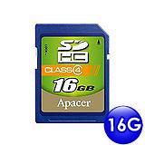 Apacer宇瞻 16GB SDHC 記憶卡(Class 4)