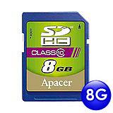 Apacer宇瞻 8GB SDHC 記憶卡(Class 10)