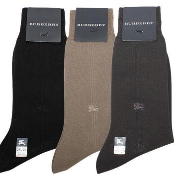 BURBERRY 經典戰馬刺繡中直紋紳士襪