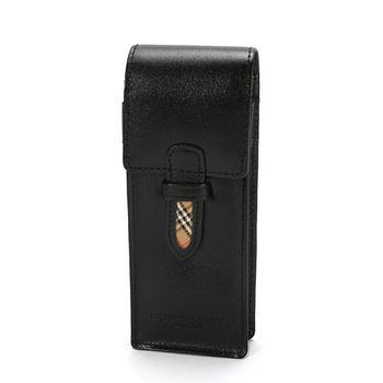 【真心勸敗】gohappy線上購物BURBERRY 素色皮革萬用筆盒-黑色價錢台南 愛 買 量販 店