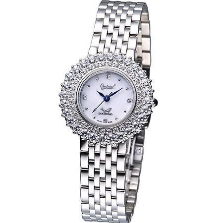 Ogival 愛其華 高雅薔薇 時尚腕錶-(380-01DLS)白色