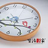 ◤重現居家好品味◢生活采家木框系列靜音時尚掛鐘(小鳥)#01006